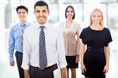 Business team standing in a row Stock Photo