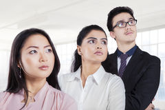 Business team standing in a row at office Royalty Free Stock Photos