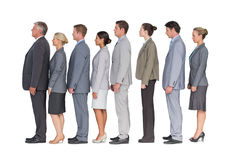 Business team standing in row Stock Image