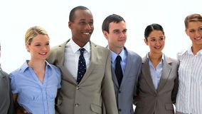 Business team standing side by side Royalty Free Stock Photos