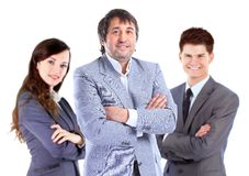 Business team standing upright Royalty Free Stock Photos