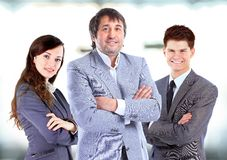 Business team standing upright Stock Photography