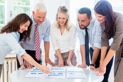 Business team in strategy meeting discussing Royalty Free Stock Photo