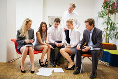 Business team during a strategy meeting Stock Images