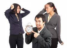 Business team are stressed Royalty Free Stock Image