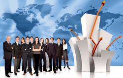 Business team of success Royalty Free Stock Photos