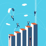Business team success graph concept illustration. Business success concept illustration, businessmen team climbing growth graph. EPS10 vector Stock Photography
