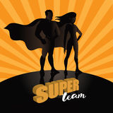Business team super heroes background design. Royalty Free Stock Photography