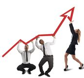 Business team supports company royalty free stock image