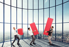Business team supports company Royalty Free Stock Photo