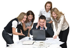 Business team surprised royalty free stock image