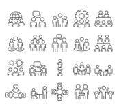 Business team symbol, partnership icon set isolated on white background royalty free illustration