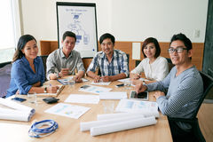 Business team at table Royalty Free Stock Photography