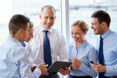 Business team with tablet pc computer at office Stock Photography