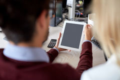 Business team with tablet pc at office Stock Photo