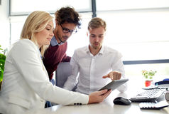 Business team with tablet pc at office Stock Photography