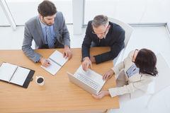 Business Team Taking Down Notes Royalty Free Stock Photos