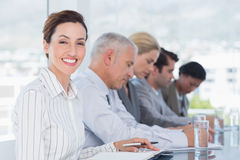 Business team taking notes during conference Royalty Free Stock Photo