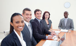 Business team talking in a meeting Stock Photo