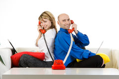 Business Team Talking On Phone royalty free stock photos
