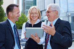 Business team talking and working Stock Images
