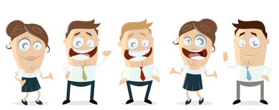 Business team teamwork clipart Royalty Free Stock Photography