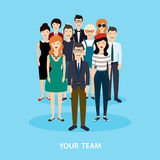 Business Team. Teamwork. Social Network and Social Media Concept Royalty Free Stock Image