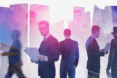 Business team and telecommunication royalty free stock images
