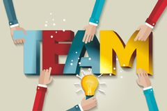 A symbol of teamwork and trust. Business team template. A symbol of teamwork and trust Stock Photos