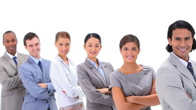 Business team with their arms crossed Royalty Free Stock Image