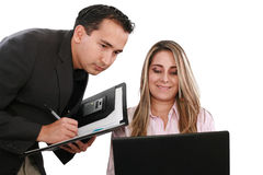 Business team at their company office Royalty Free Stock Photography