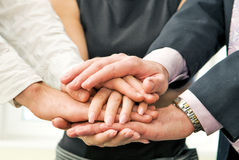 Business team with their hands. Royalty Free Stock Photography