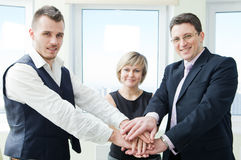 Business team with their hands. Stock Image