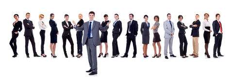 Business team and their leader Royalty Free Stock Photo