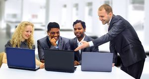 A business team of three Stock Photos