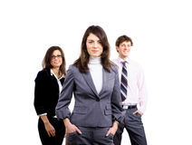 Business team of three Stock Photography
