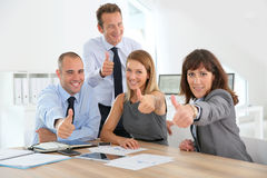 Business team with thumbs up Royalty Free Stock Photography