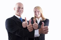 Business Team With Thumbs Up Royalty Free Stock Images