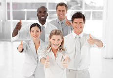 Business Team   Thumbs up to camera Royalty Free Stock Photo