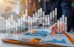 Free Business Team To Calculate Financial Information To Invest In New Projects In Office. Stock Images - 164182044