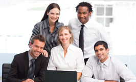 Business team together in an office Royalty Free Stock Image