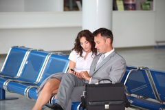 Business team travelling Stock Image
