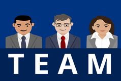 A Business Team with Two Men and One Woman Stock Image