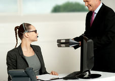 Business team of two working in office Royalty Free Stock Photography