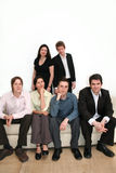 Business Team - Urban. Team of 6 business people on a sofa royalty free stock photography