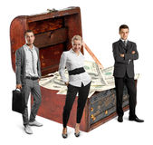 Business team and USA Dollars Royalty Free Stock Photo