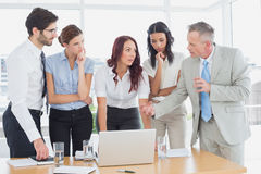 Business team using a laptop Stock Image