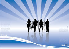 Business team vector. Business team on modern background Royalty Free Stock Photos