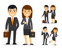 Business team vector characters. Business team. Businessman and business woman vector characters Royalty Free Stock Photography