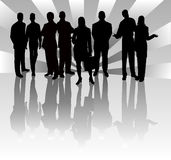 Business Team - vector  illustration. Business Team - vector silhouettes illustration Stock Images